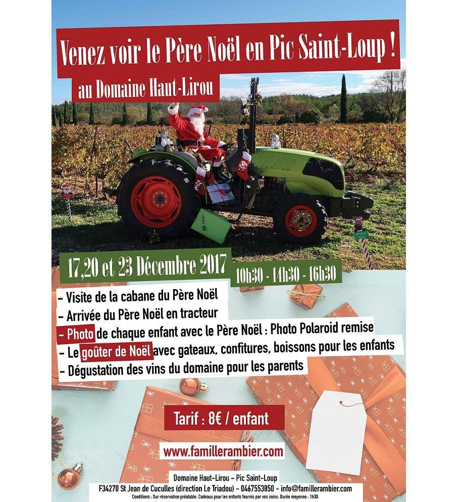 Père Noël dans les vignes du Domaine Haut-Lirou