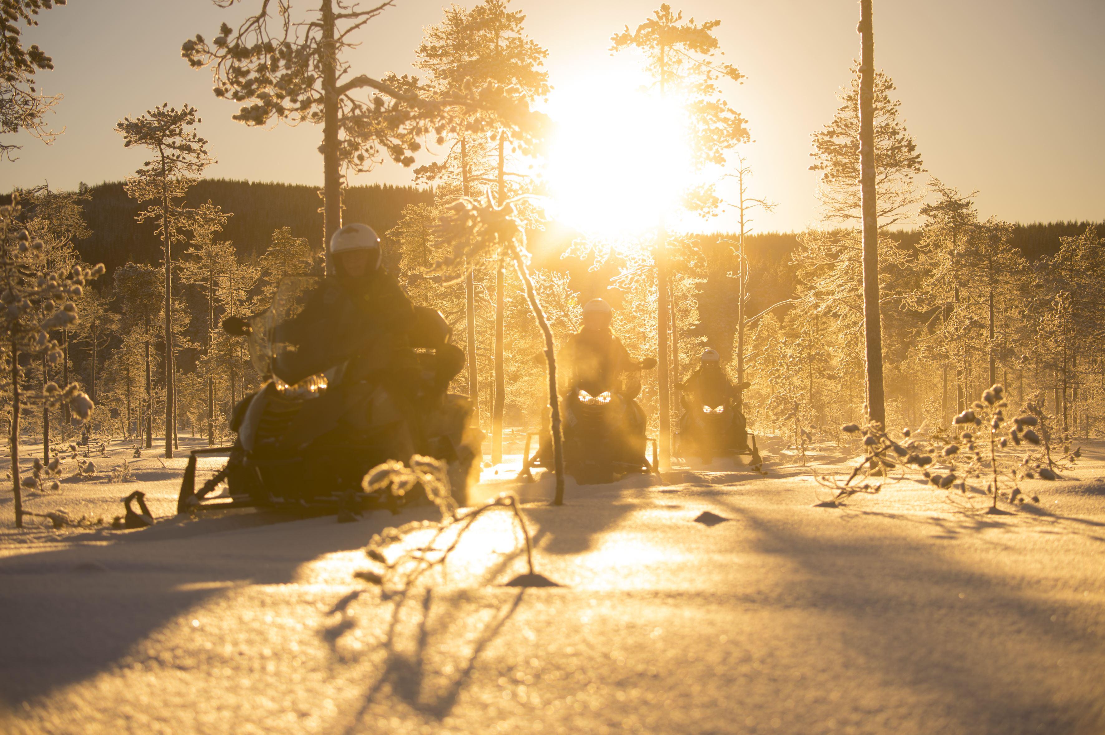 Snowmobile in Granö