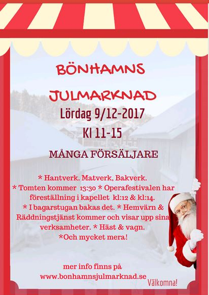 Bönhamns julmarknad den 9 december