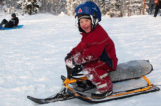 Cross country skiing tracks in Hällmyra, Söderhamn