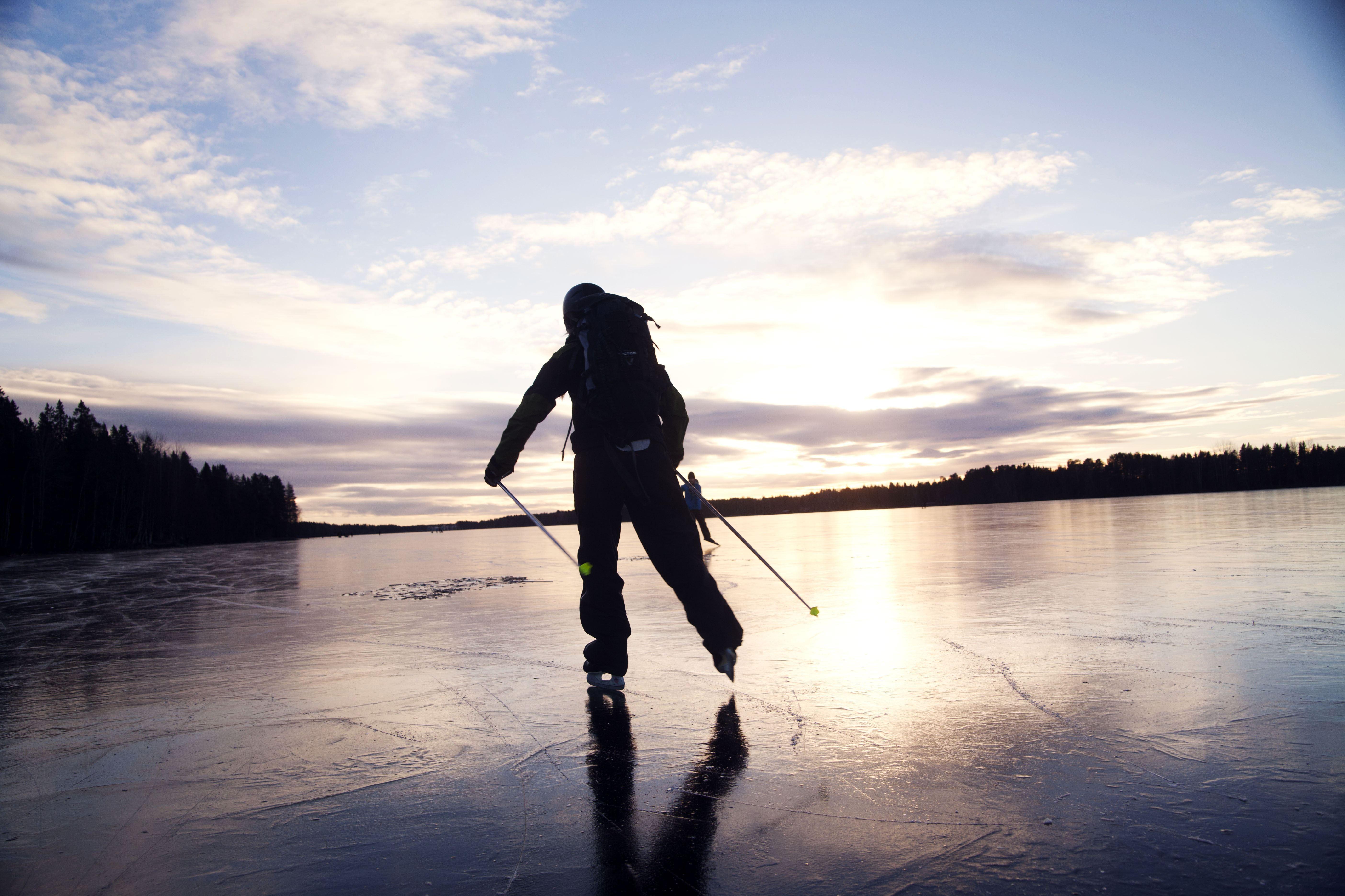 Long-distance skating in Tavelsjö