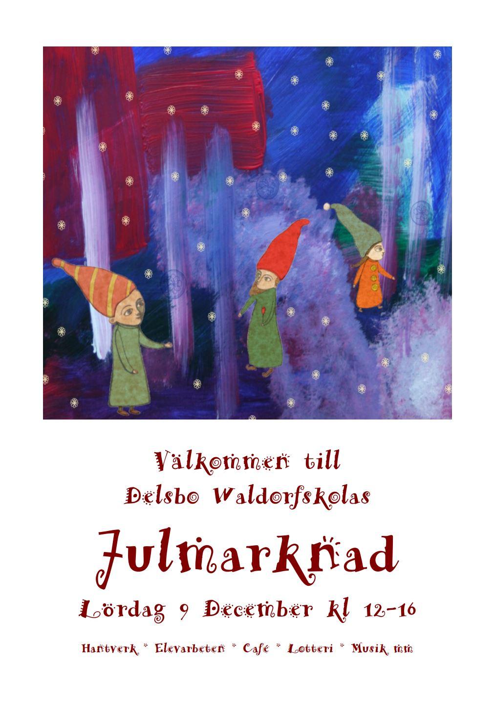 Julmarknad på Delsbo Waldorfskola