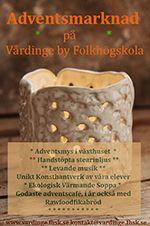Stämningsfull Adventsmarknad på Vårdinge by folkhögskola