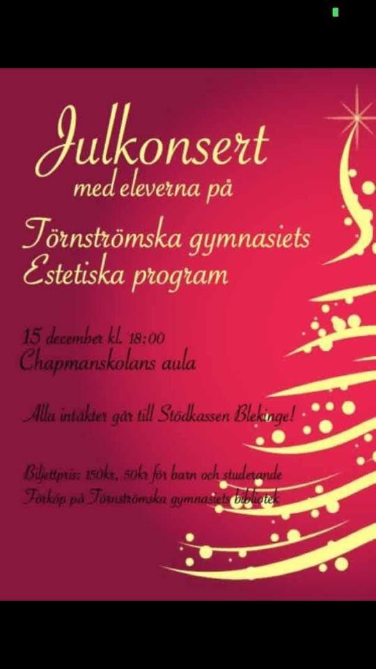 Julkonsert med elever från Törnströmska gymnasiets Estetiska program