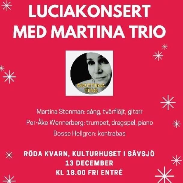 Luciakonsert med Martina trio