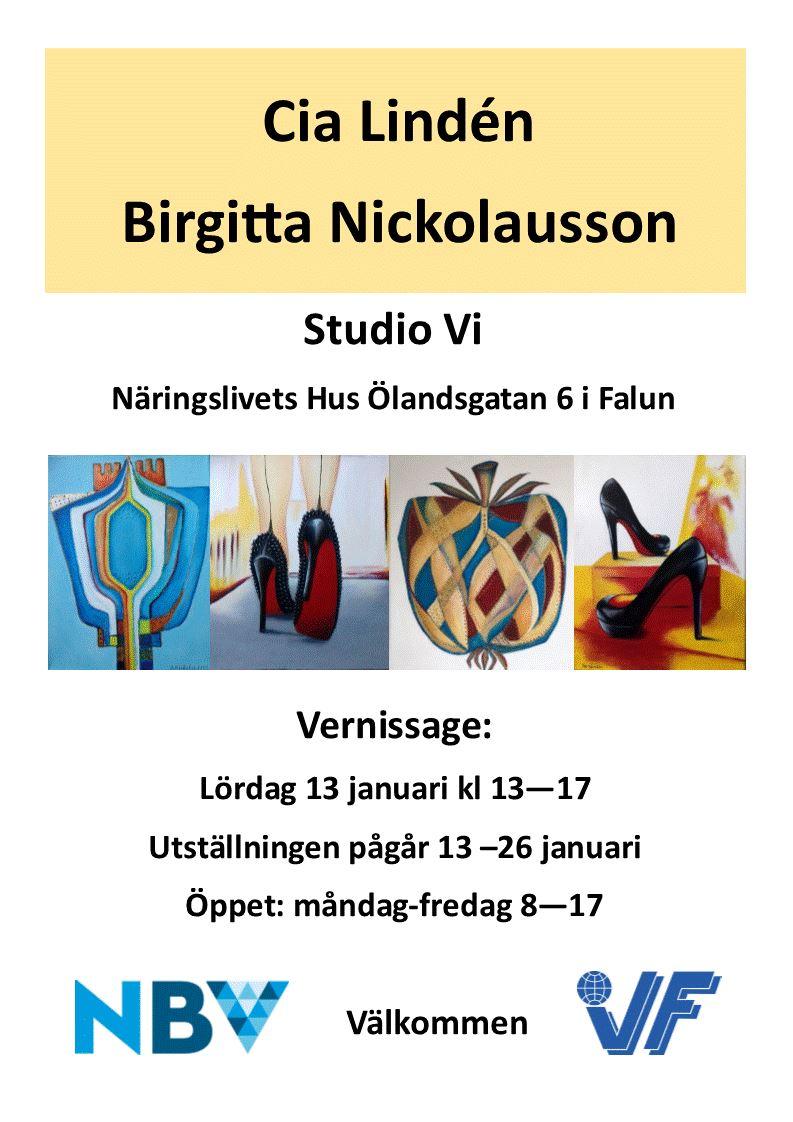Konst på Studio Vi med Cia Lindén och Birgitta Nickolausson