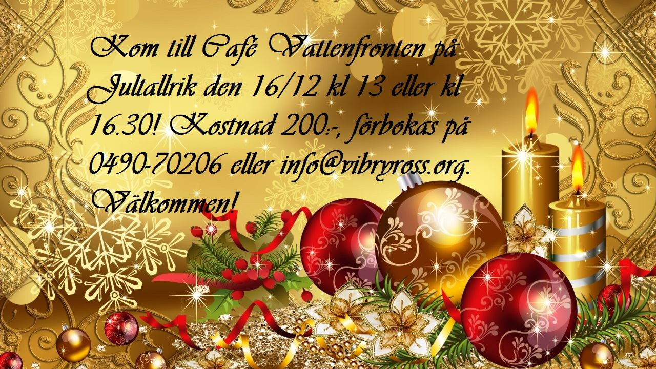 Jultallrik på Café Vattenfronten