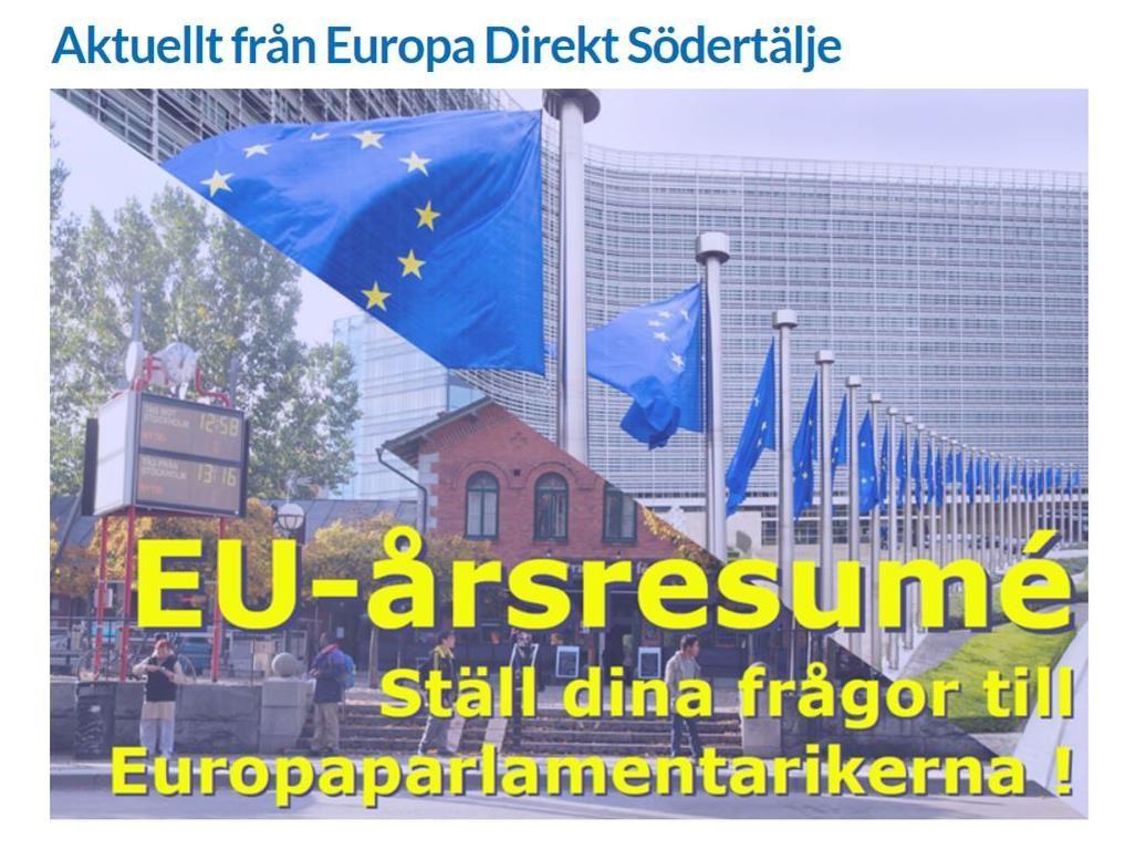 EU-årsresumé - Ställ dina frågor till EU-parlamentarikerna