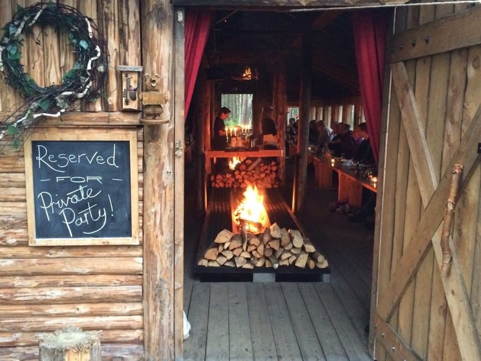 Local food served in our Viking long house or Sami lavvu