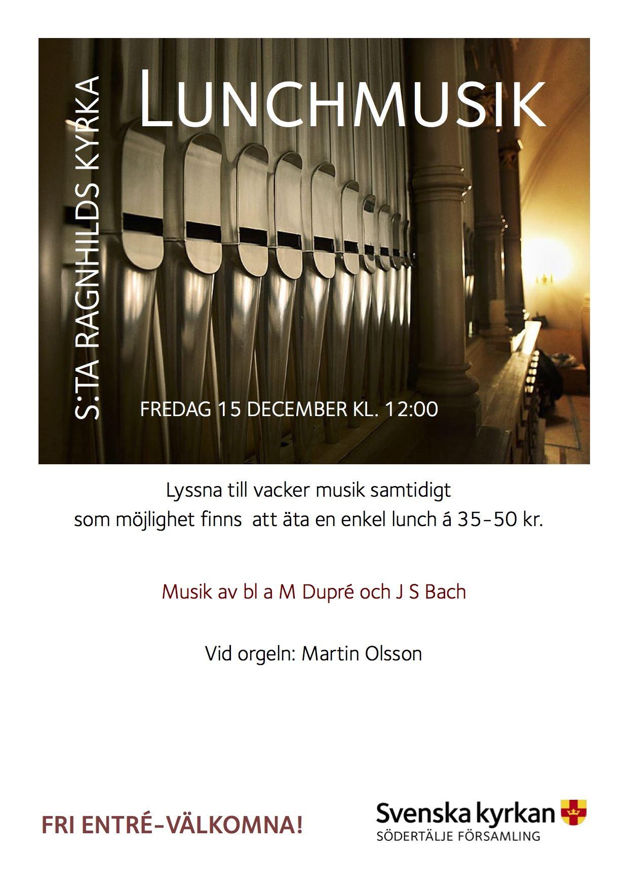 Lunchmusik i S:ta Ragnhilds kyrka