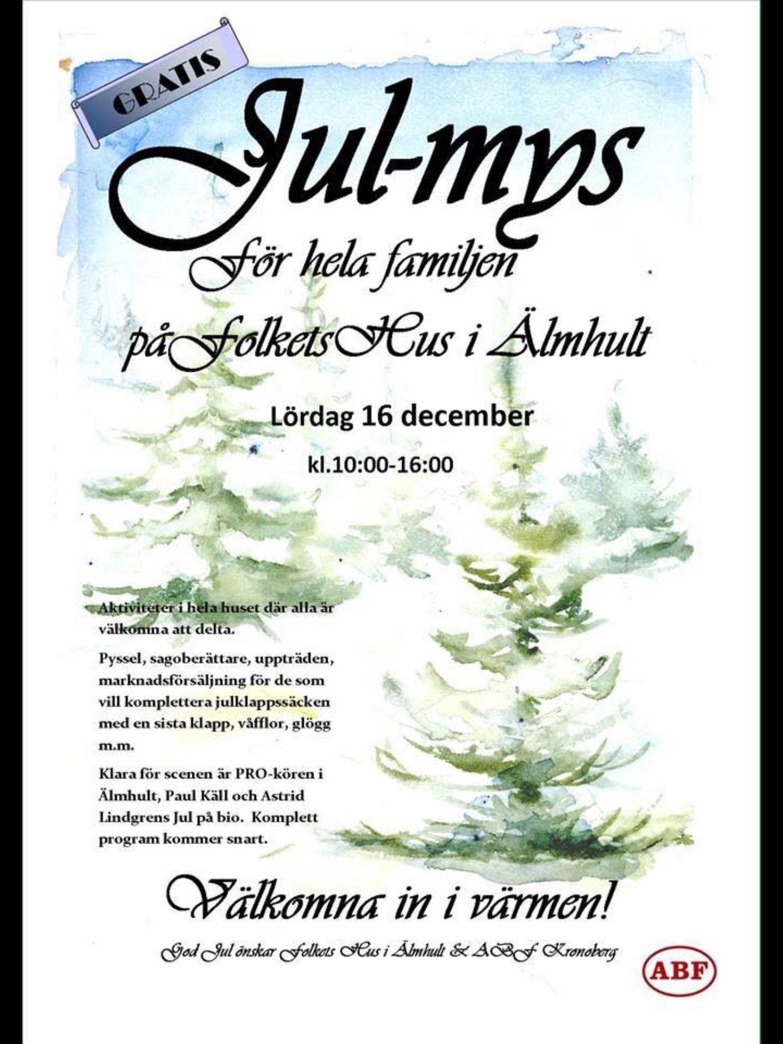 Julmys på Folkets hus i Älmhult