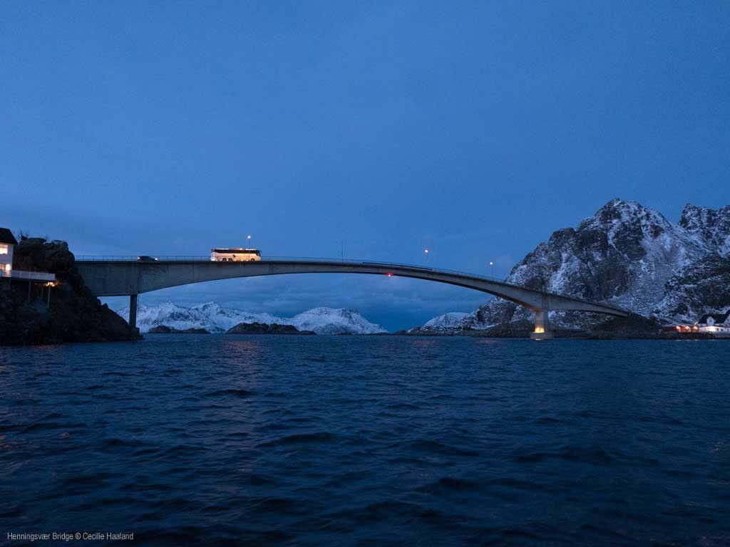 © Cecilie Haaland, Henningsvær bridge in Lofoten