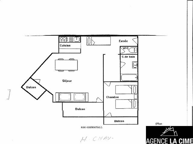 HAUTS DE CHAVIERE A27 / APPARTEMENT 2 PIECES 6 PERSONNES - CI