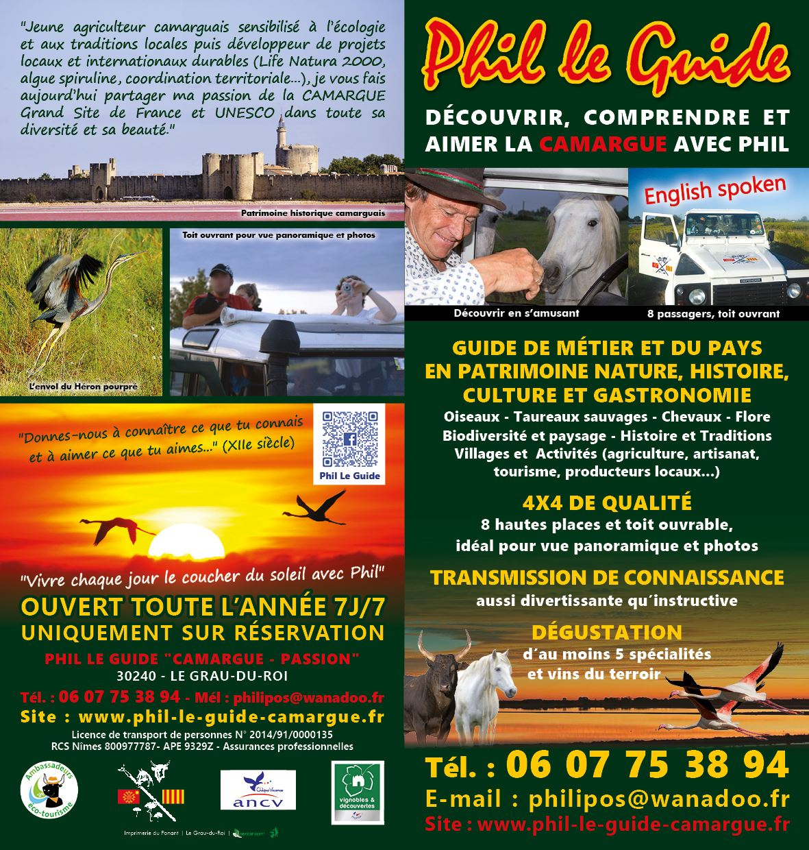 To discover, understand, enjoy the CAMARGUE with Phil ! (half-day)