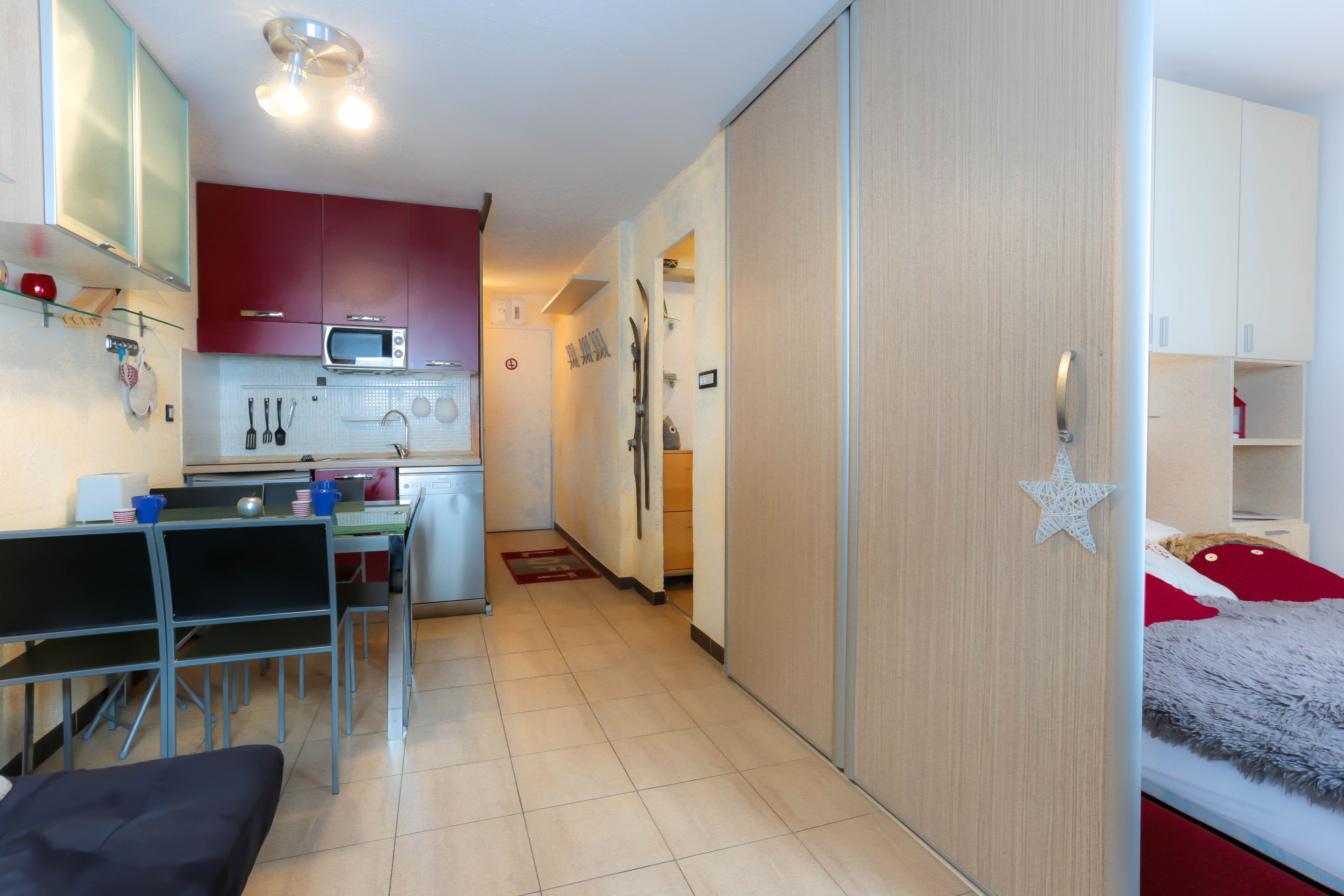 Lauzières 423 > 2 Rooms + Cabin - 4 Persons - 3 Silver Snowflakes (Ma Clé Immo)