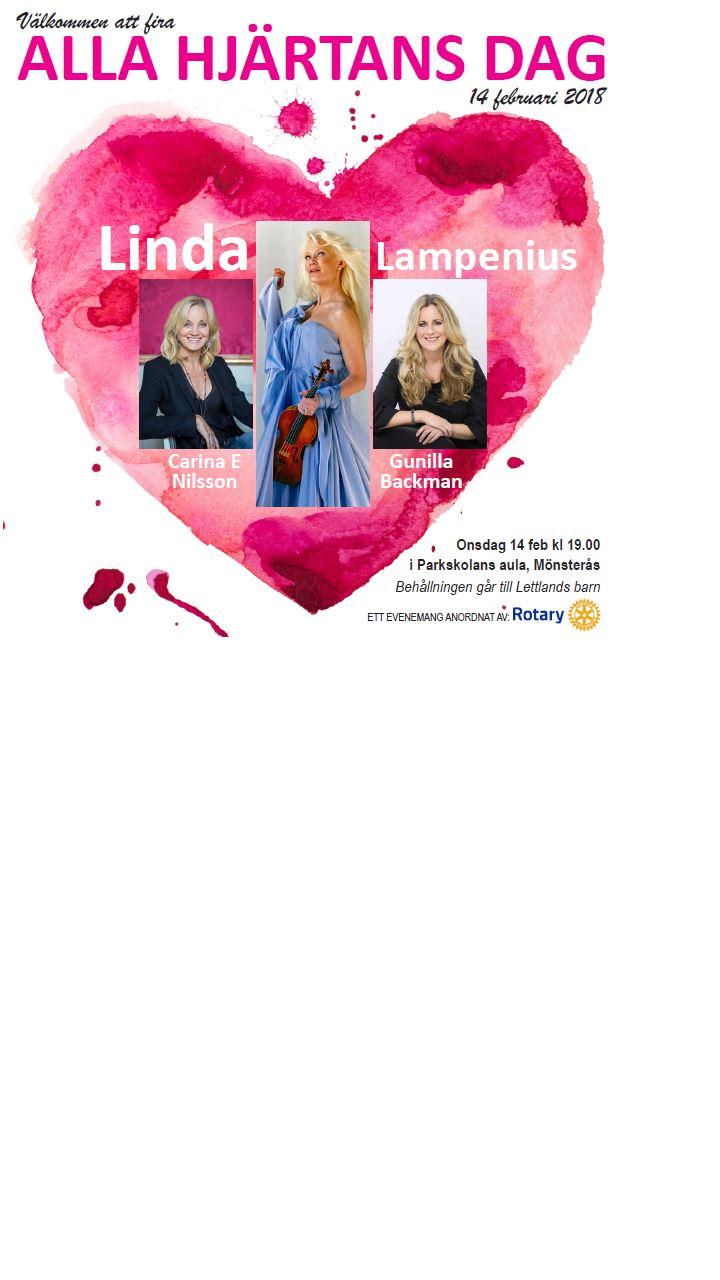 Alla hjärtans dagkonsert med Linda Lampenius