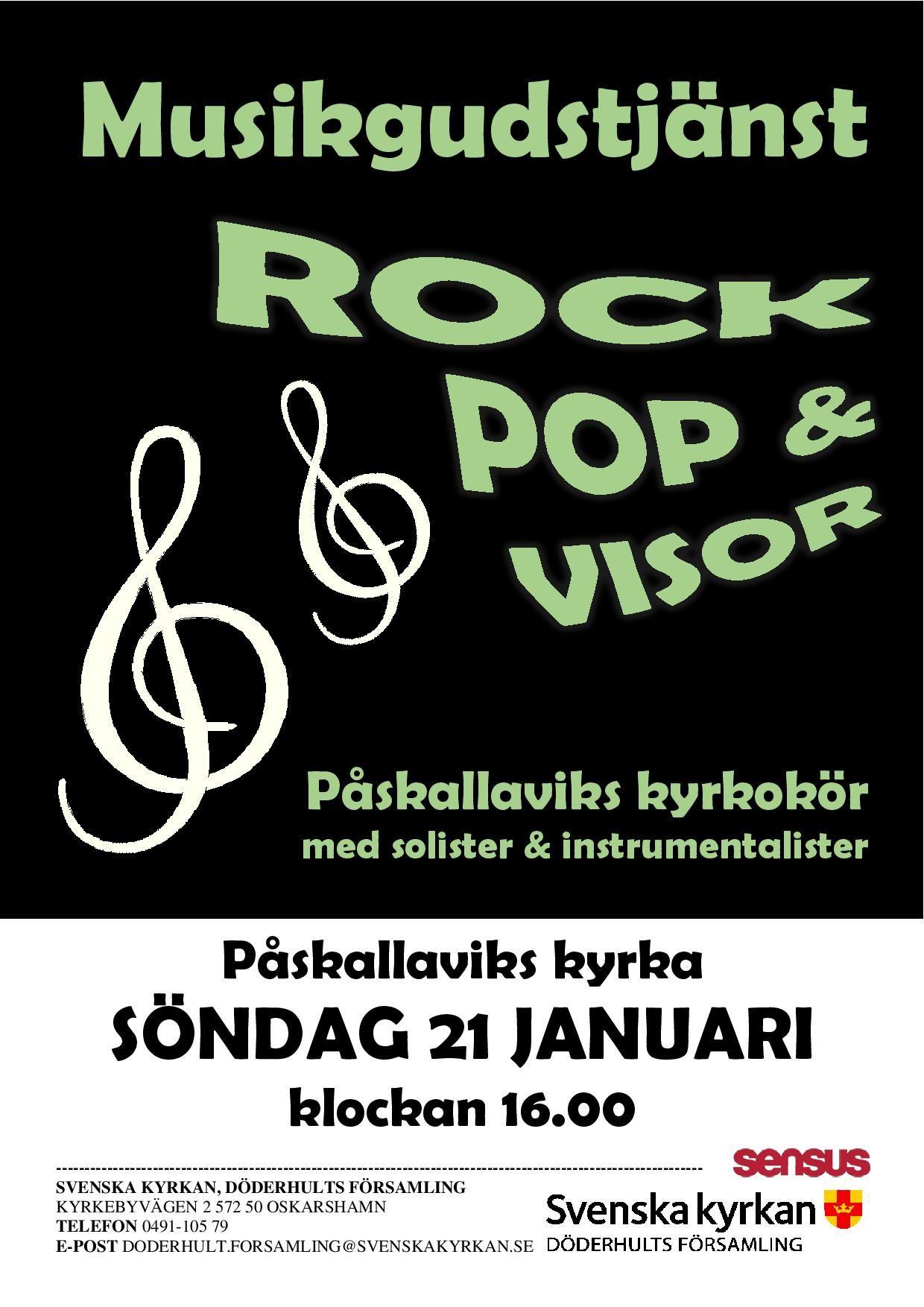 Rock, pop & visor i Påskallavik