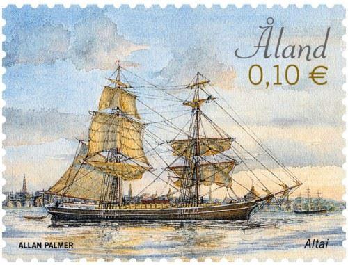 Frimärksutgivning: Amerikabyggda segelfartyg