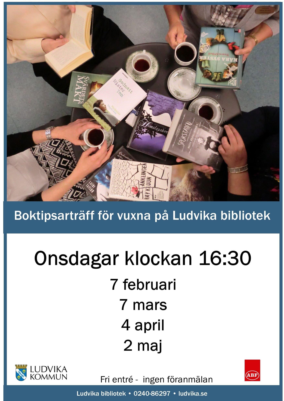 Boktipsarträffar för vuxna på Ludvika Bibliotek