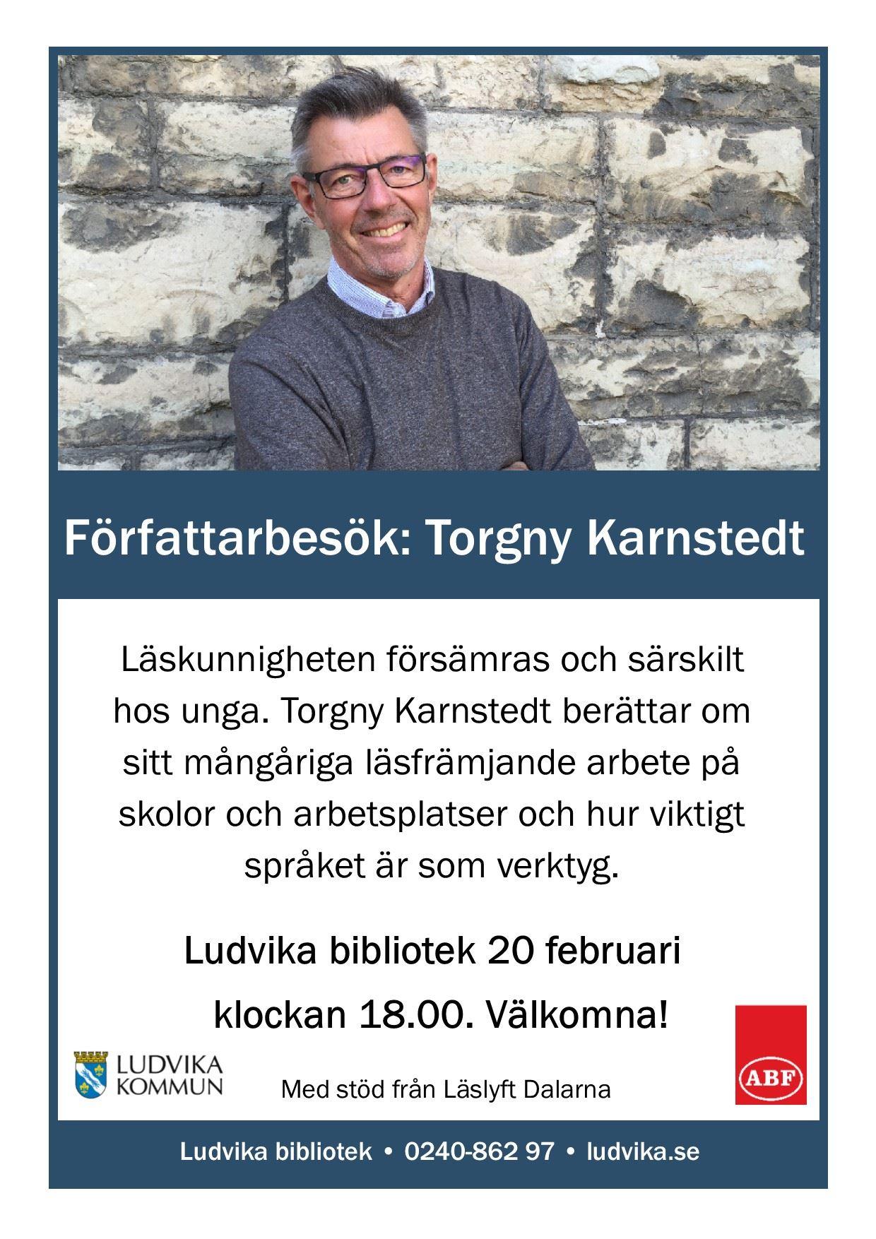 Författarbesök Torgny Karnstedt