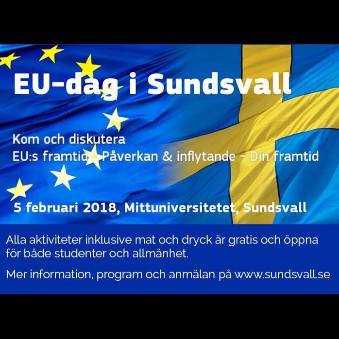 EU-dag för allmänhet och studenter på Mittuniversitetet