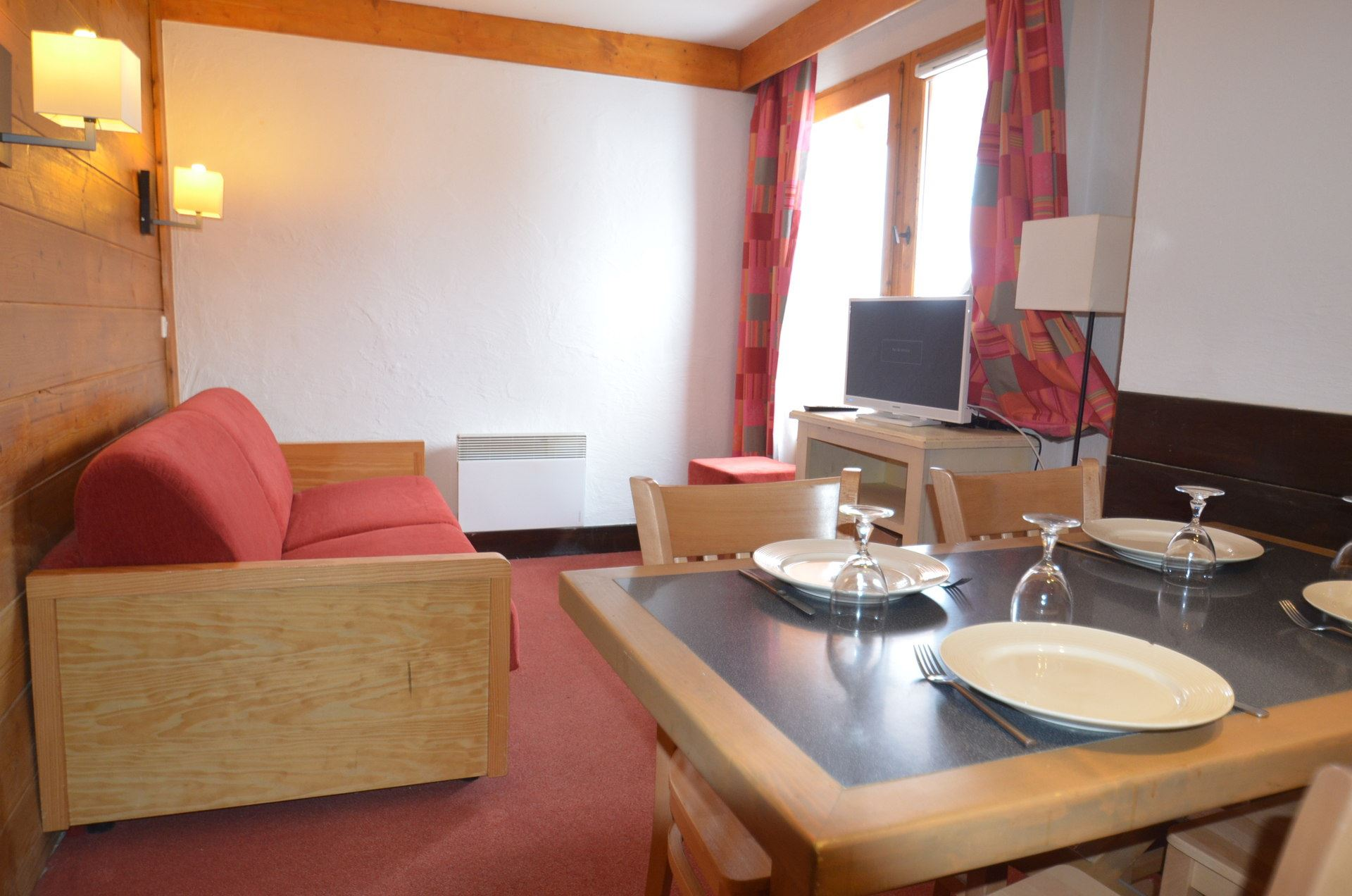 2 Room 4 Pers ski-in ski-out / Aconit 504