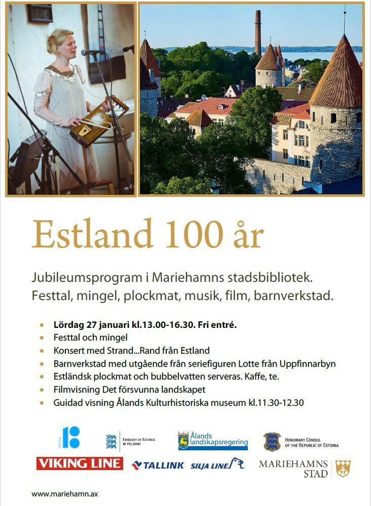 Anniversary program in the Mariehamns library: Estonia celebrates 100 years