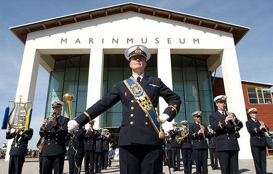 Konsert - Postcard med Marinens Musikkår