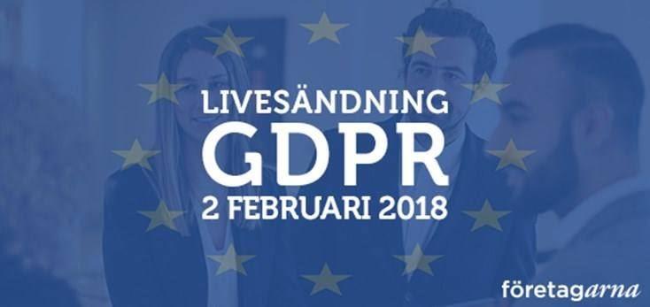 Frukost och livesändning om nya dataskyddslagen GDPR