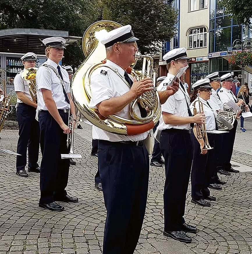 Musikmarsch i Karlshamn