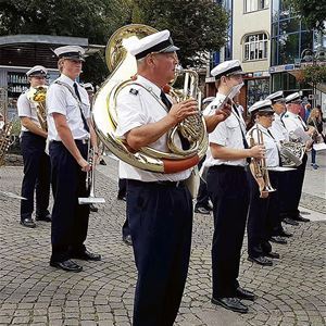 Music march in Karlshamn