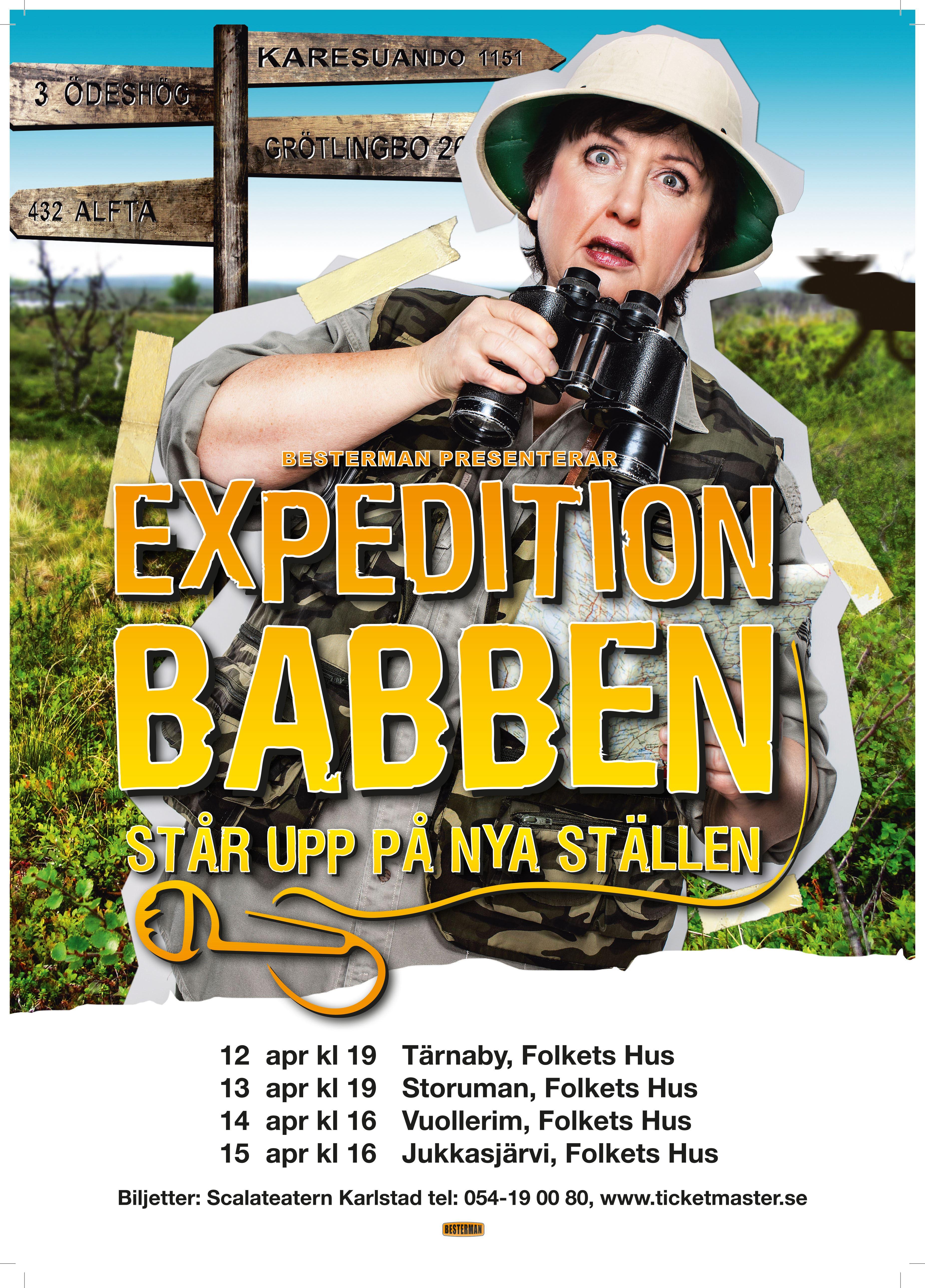 Expedition Babben - Står upp på nya ställen