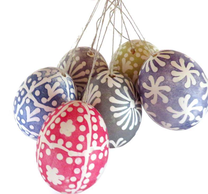 Slöjdkafé Vaxmålade ägg