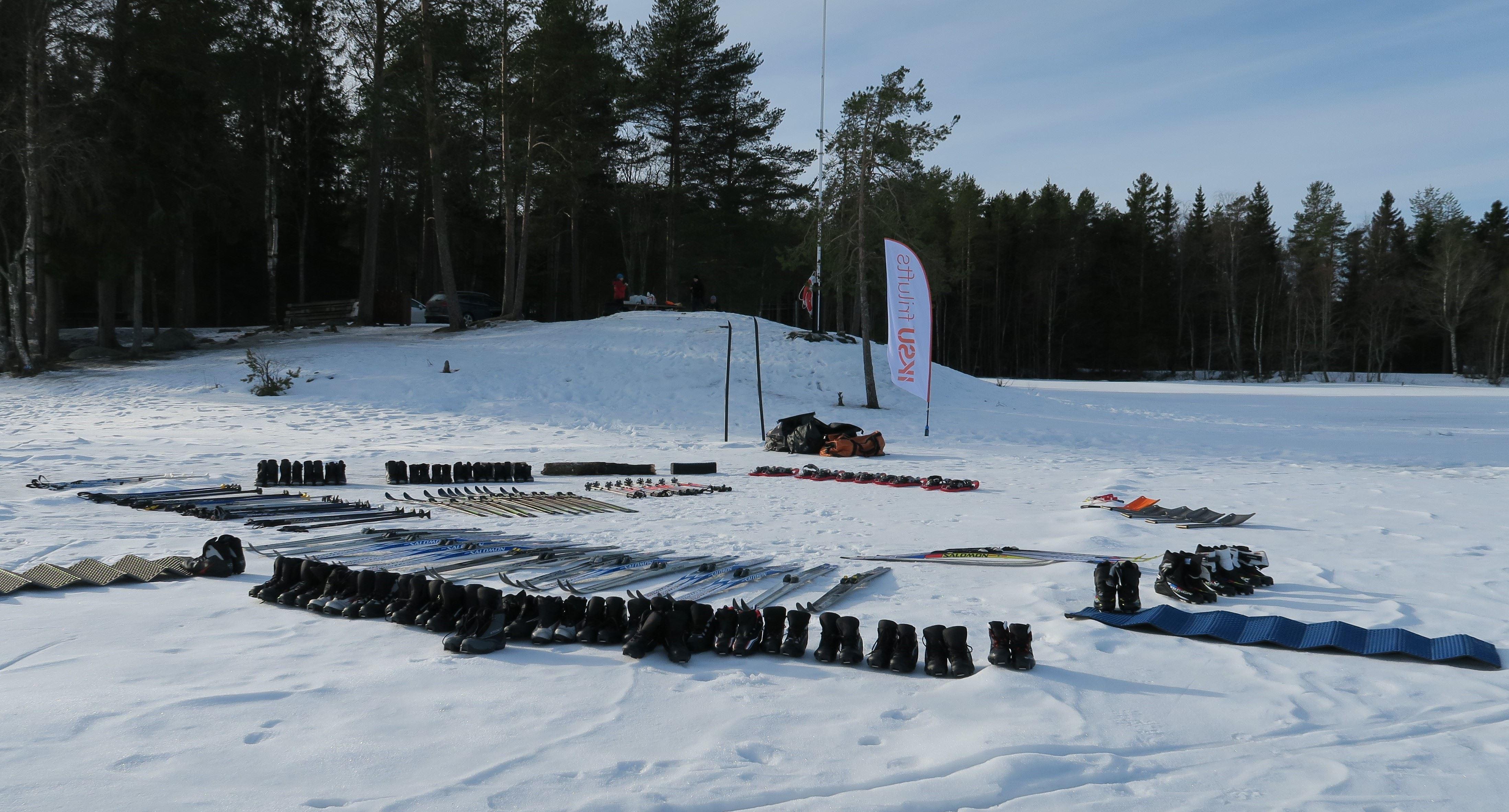 Winter activity day at Nydala lake