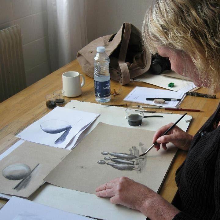 Akvarellkurs på Södergården Åre med Carina Hååg
