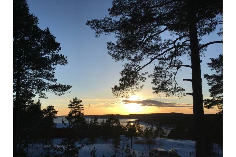 Arnäsvall - Härlig stuga med utsikt över havet 25 min norr om Örnsköldsvik
