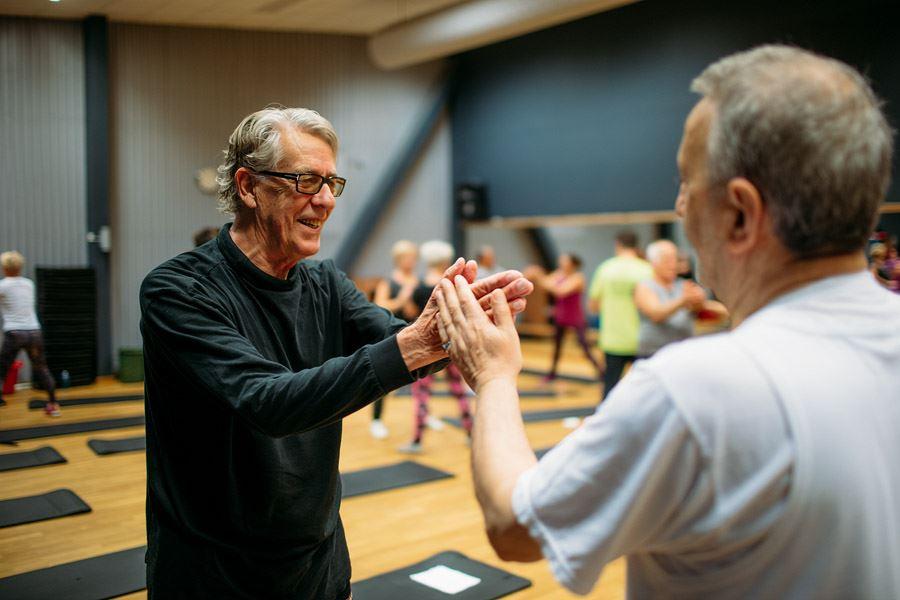 Anders Ebefeldt, studio-e.se, Seniorträning i grupp på Puls arena