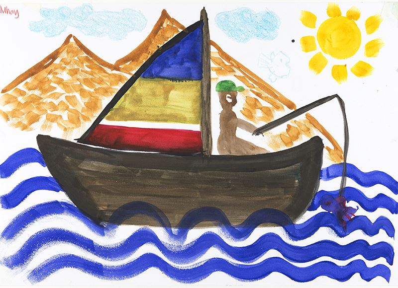 Söndagskul på Marinmuseum - Akvarellmålning med Irina