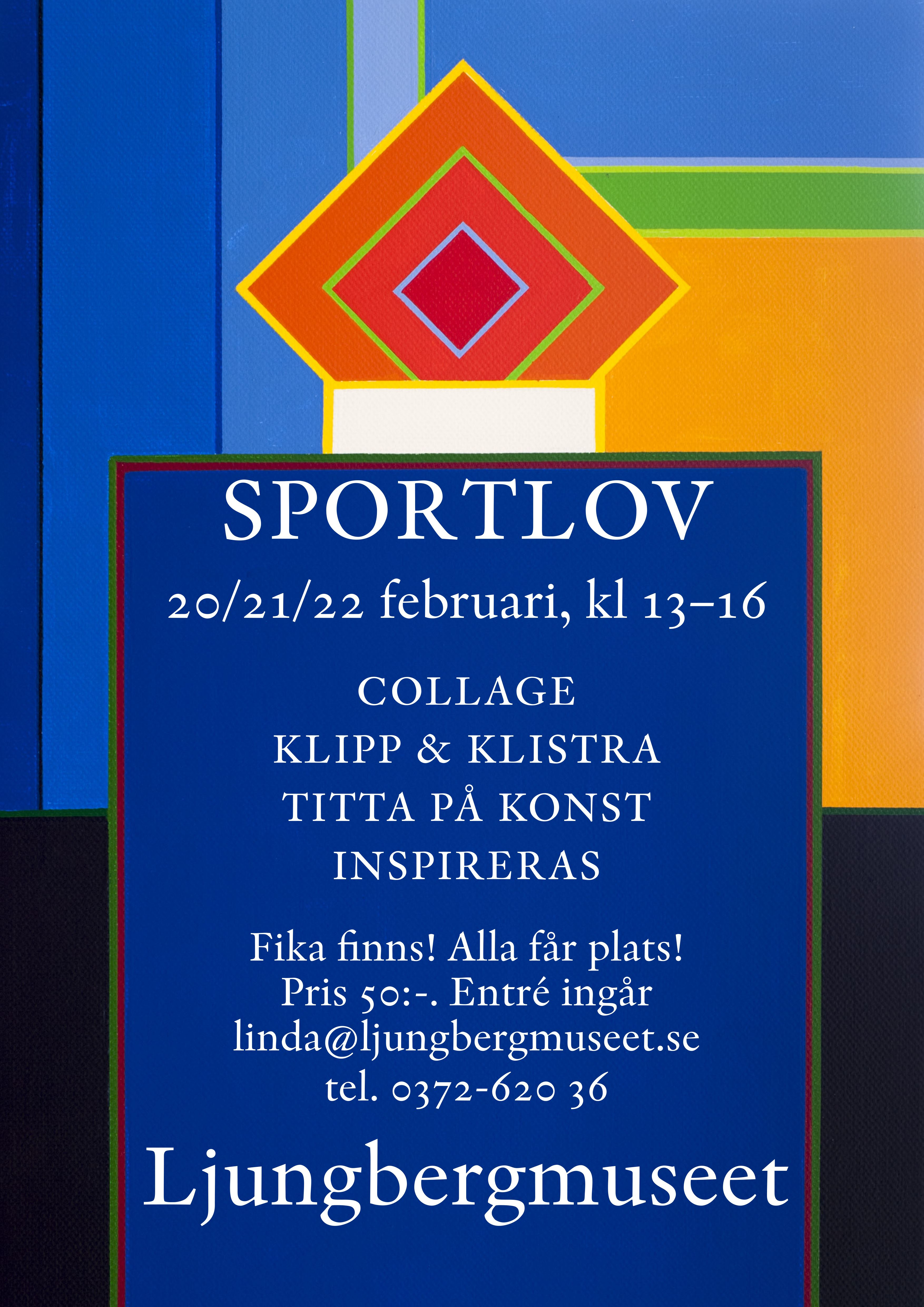 Sportlovsverkstad på Ljungbergsmuseet