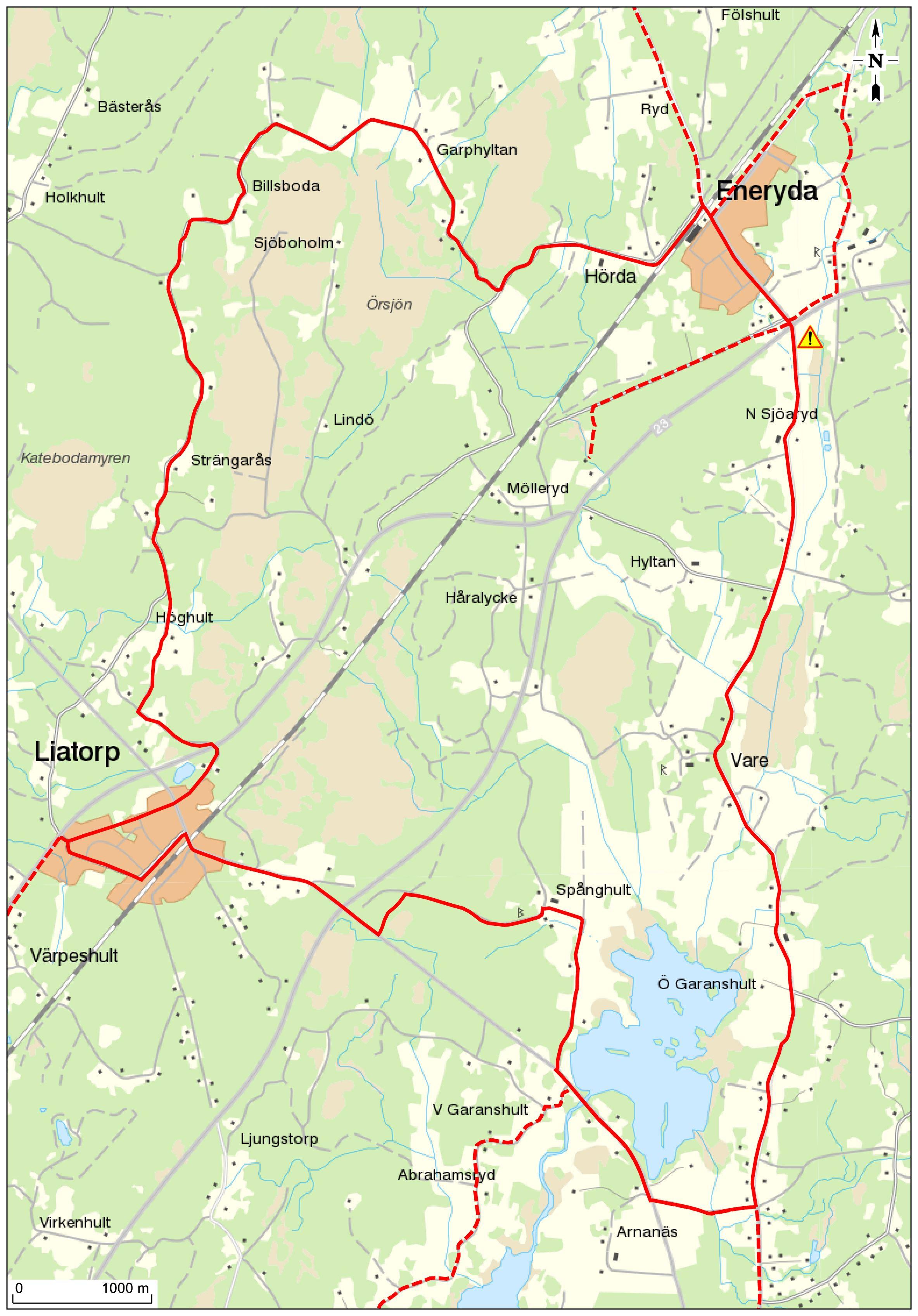Cykeltur - Enerydarundan 26 km