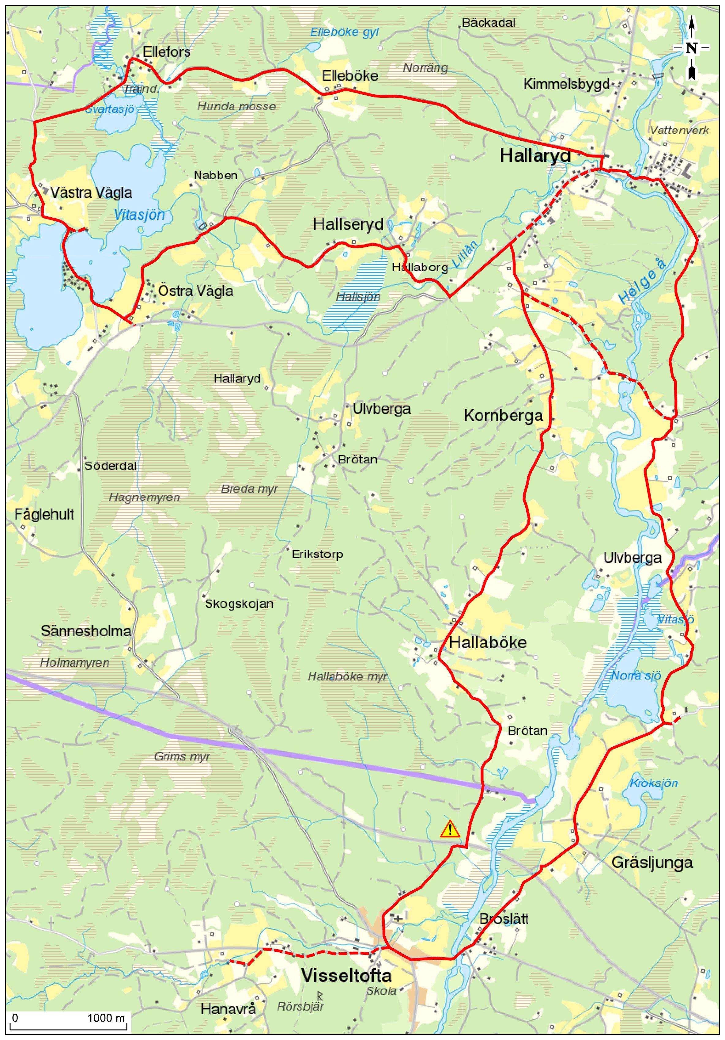 Cykeltur - Hallarydsrundan 29 km