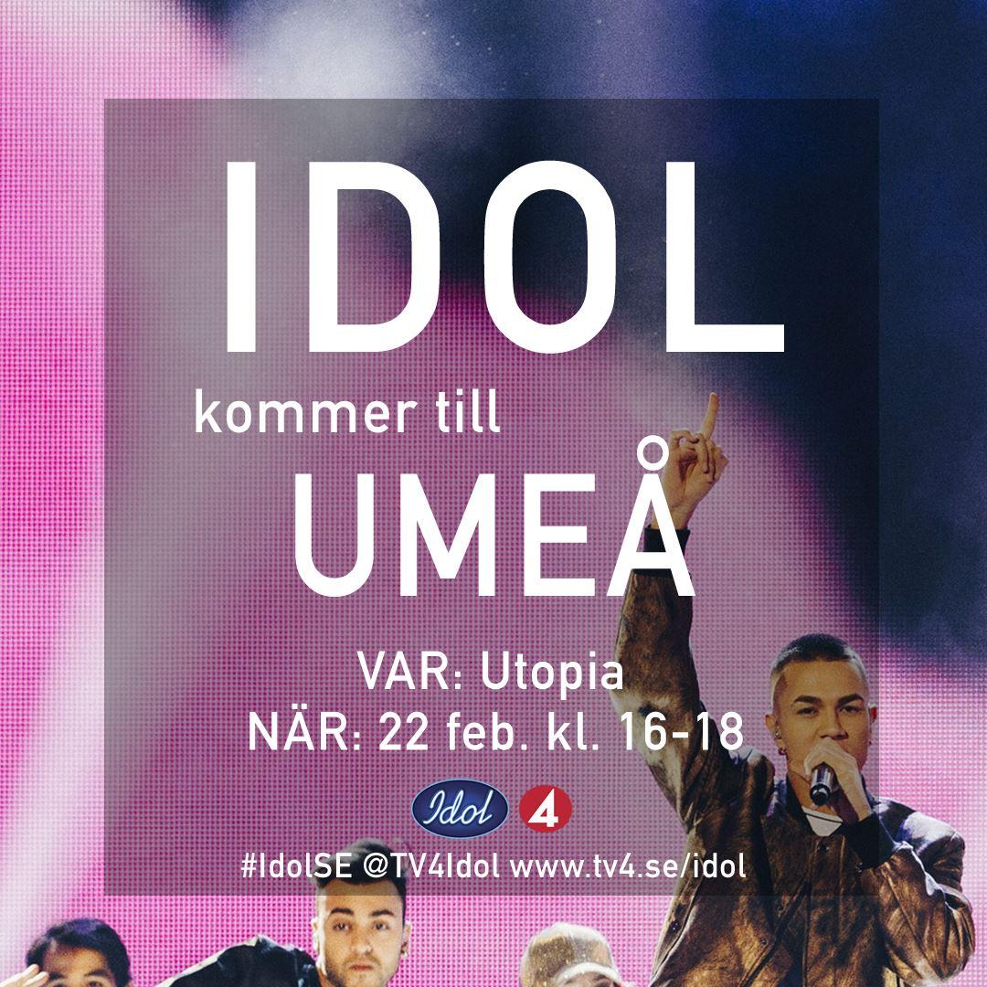 Kom och träffa idol i Umeå