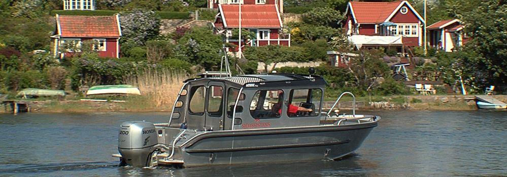 Boot - Utklippan mit Karlskrona Sjötaxi