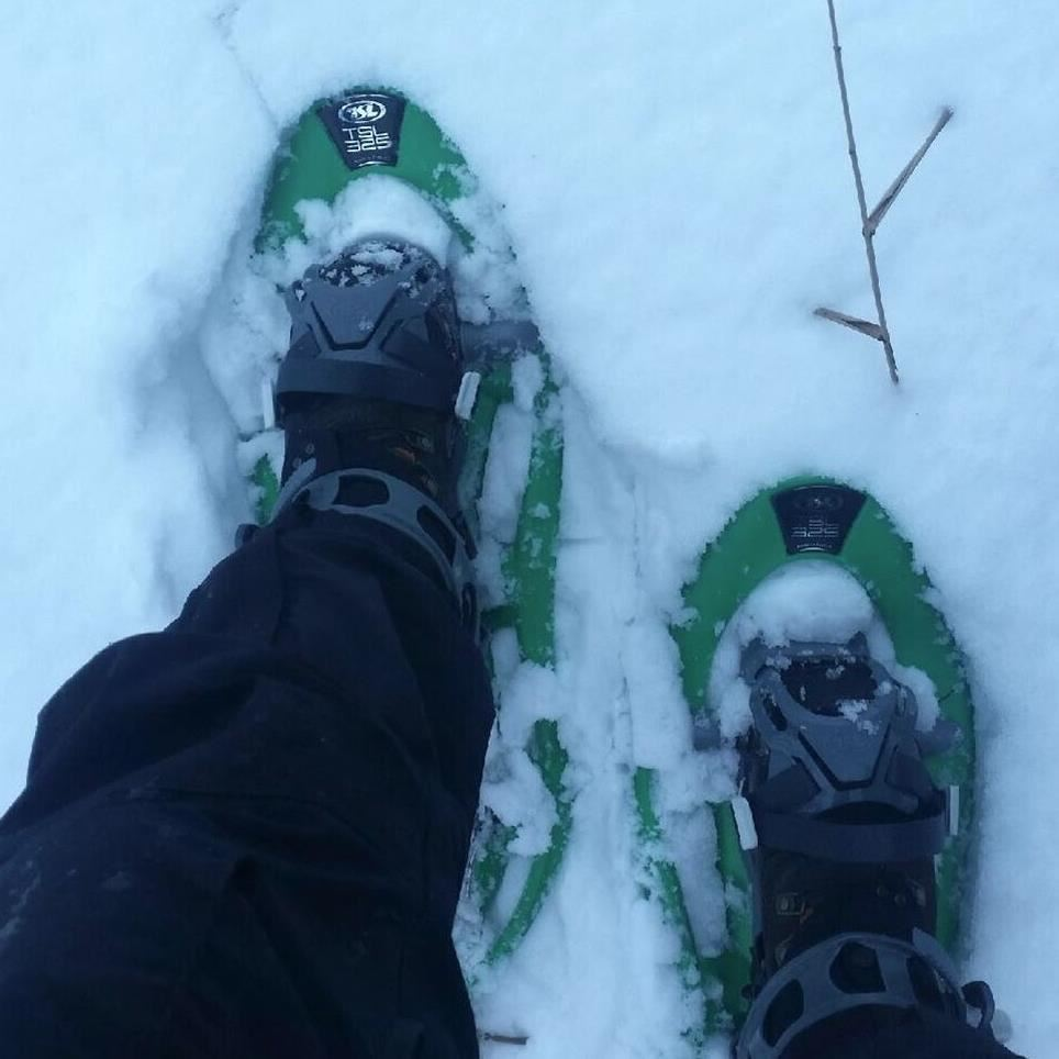 Prova på snöskor