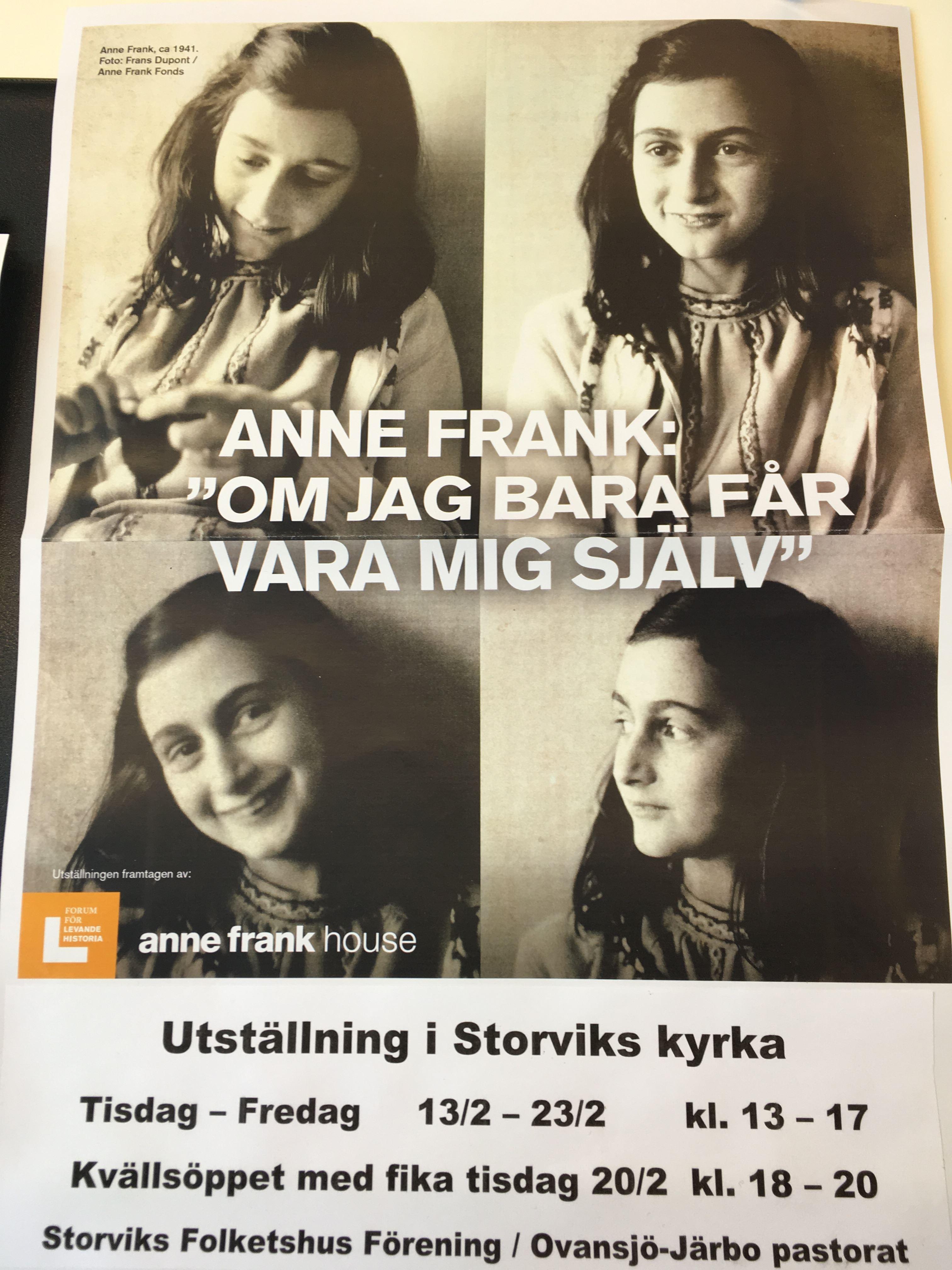 Anne Frank - Om jag bara får vara mig själv.