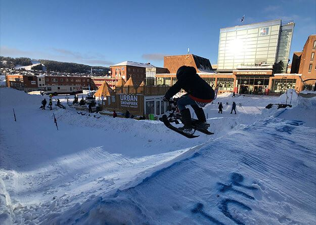 Urban Snowpark at the town square