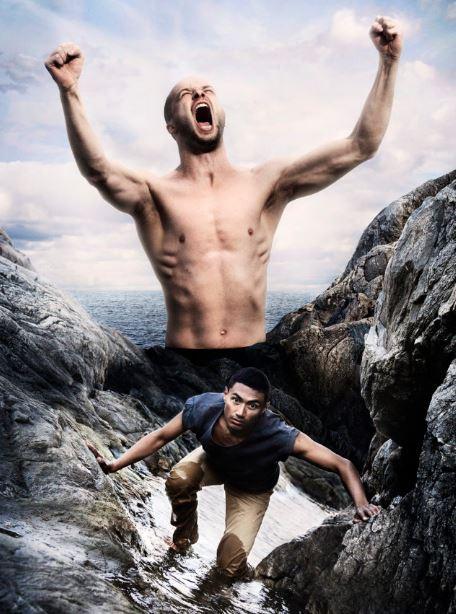 Carl Thorborg,  © Copy: pressbild norrdans, Bild på vrålande man-Odysseus