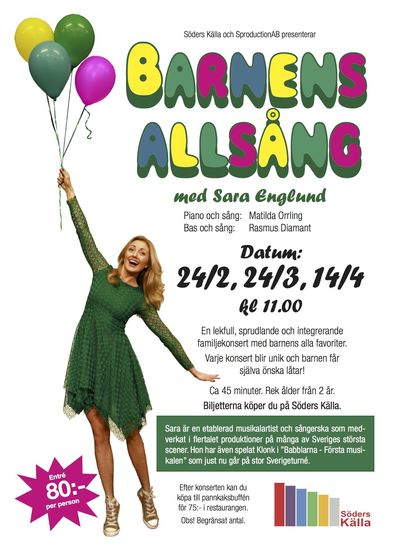 Barnens Allsång med Sara Englund