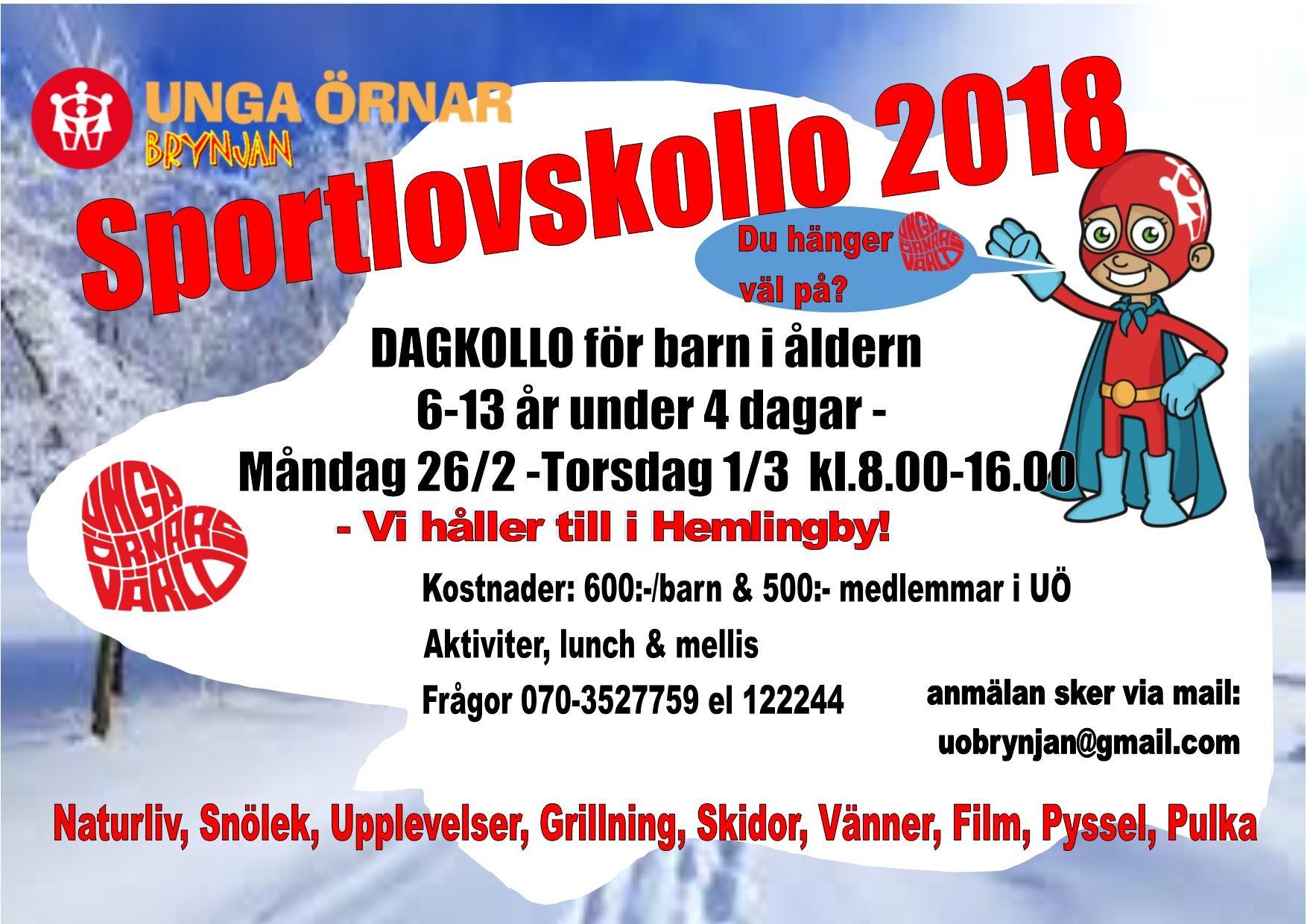 Sportlovskollo under fyra dagar i Hemlingby