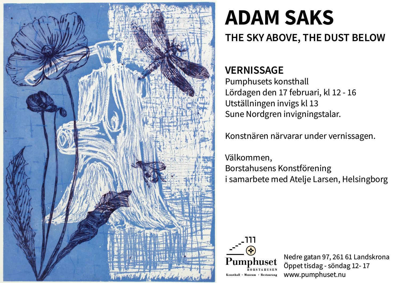Pumphusets konsthall - Konstutsällning The Sky Above, The Dust Below,  Adam Saks